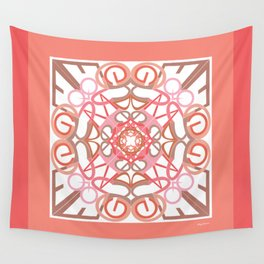 Gender Equality Mandala -Peach Pink Wall Tapestry