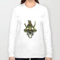shiva Long Sleeve T-shirts featuring Shiva by Slavena Peneva