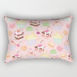 sweet pattern aka cake , cupcake and macaroon Rectangular Pillow