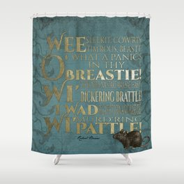 To A Mouse Shower Curtain