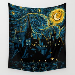 Starry night at school Wall Tapestry
