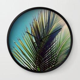 Sunny Palm Tree Wall Clock