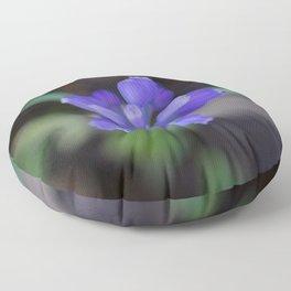 Muscari armeniacum(Armenian grape hyacinth) Floor Pillow
