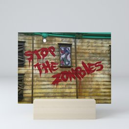 Stop the Zombies!!! Mini Art Print