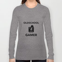 Oldscool Gamer Joystick Long Sleeve T-shirt