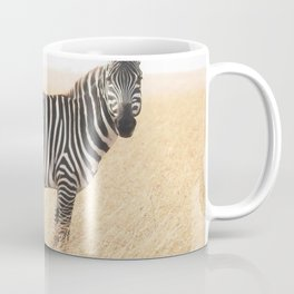 Zebra in Grassland Coffee Mug