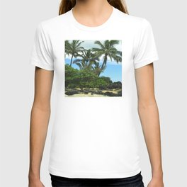 Tropical Hawaiian Beach in Pristine Paradise T-shirt