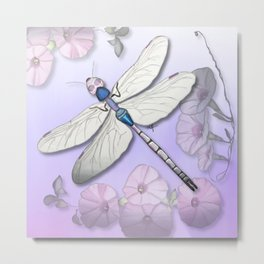 Purple Dragonflies Metal Print