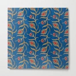 Turkish tulip pattern - Ottoman tile #18 Metal Print