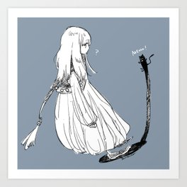 With a shadow cat Art Print