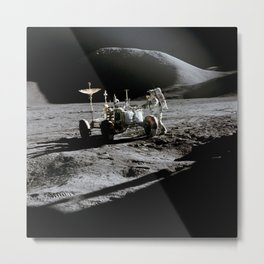 Apollo 15 - Moonwalk 1971 Metal Print