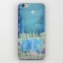 Nightfall at the pond iPhone Skin