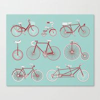 yowamushi pedal Canvas Prints featuring Pedal to the Mettle by Keely Bowden
