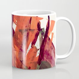 Embers (2): A bold abstract piece in reds, gray, and white Coffee Mug