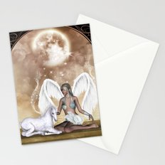 The fairy with wonderful, cute foal unicorn Stationery Cards