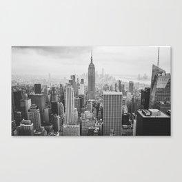 New York City. Manhattan downtown skyline with illuminated Empire State Buildingny Canvas Print