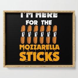 Mozzarella Sticks Cheese Lover Funny Snack Gift Serving Tray