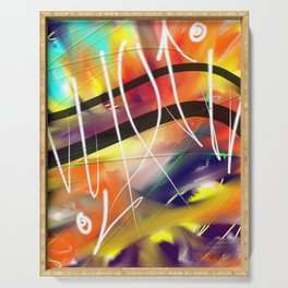Abstract Urban Art Serving Tray