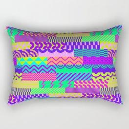 Abstract geometrical neon pink teal green pattern Rectangular Pillow