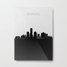City Skylines: Milwaukee Metal Print