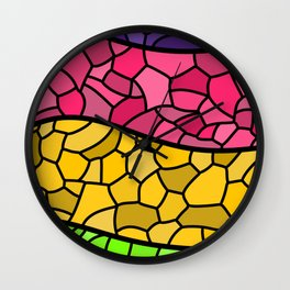Stained Glass Sapphic Flag Wall Clock