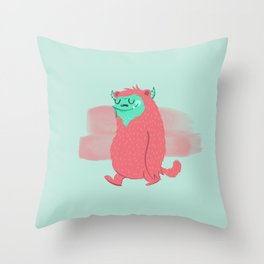 Cute Baby Monster 2 Throw Pillow
