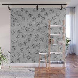 A lot of Skulls Grey Wall Mural