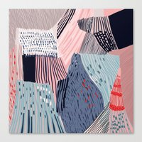 knit Canvas Prints featuring knit painting by frameless