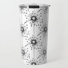 Dandelions floral pattern Travel Mug
