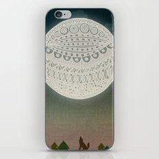 Light up the moon iPhone & iPod Skin