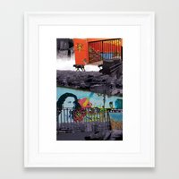 chile Framed Art Prints featuring Chile by Noush