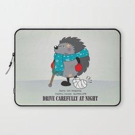 Drive carefully at night Laptop Sleeve