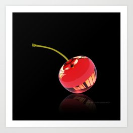 Red Glass Cherry Art Print