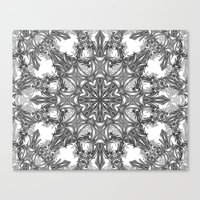 snowflake Canvas Prints featuring Snowflake   by ArtLovePassion