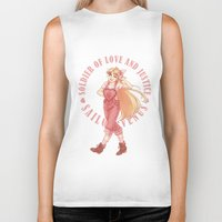 sailor venus Biker Tanks featuring Venus by Roots-Love