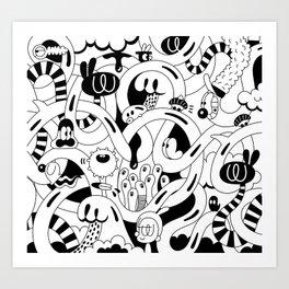 Endless surfing Art Print