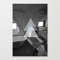 bathroom Canvas Prints featuring Bathroom by Claire Lester