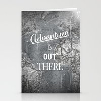 adventure is out there Stationery Cards featuring Adventure by Zach Terrell
