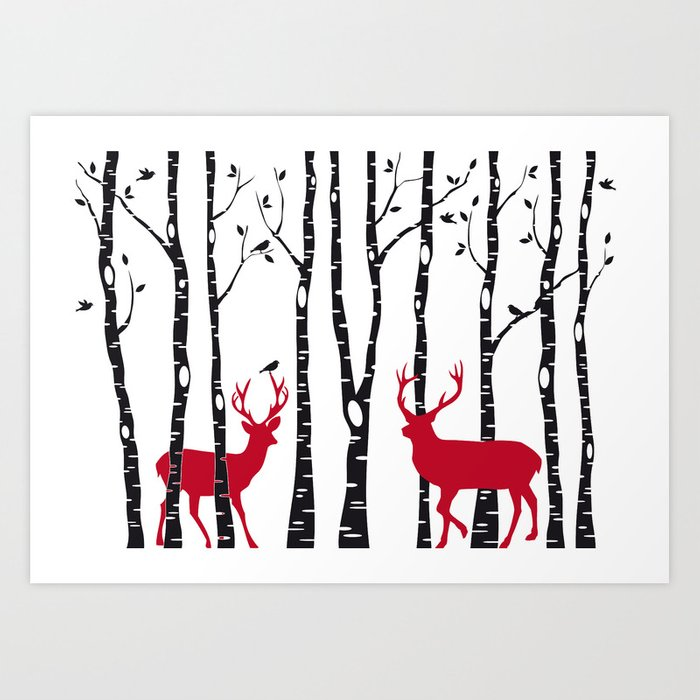 Christmas card Art Print by illustree | Society6