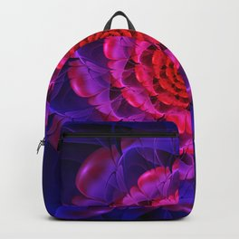 Ascension of a Vermilion Rose Fractal Spiral Bloom Backpack