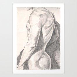 Nude Man Art Print