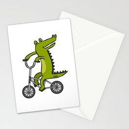 Crocodile Alligator Reptile child bike gift Stationery Cards