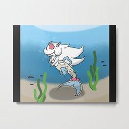 Cartoon Mermaid Metal Print