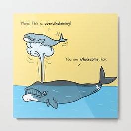 Whalesome Metal Print