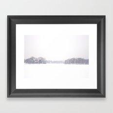 Snowy Day on Spy Pond Framed Art Print
