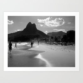 Ipanema's Beach, Rio de Janeiro Art Print