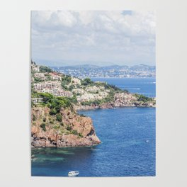Seacoast of the Esterel Natural Park in French Riviera Poster