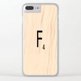 Letter F - Scrabble Art Clear iPhone Case