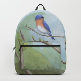 Bluebird on Branch Backpack