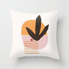Abstract Desert Landscape Throw Pillow
